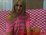 BlondeFoxXy gets naked on cam